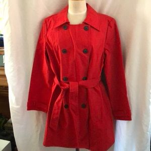 Old Navy trench coat classic look red xl EUC